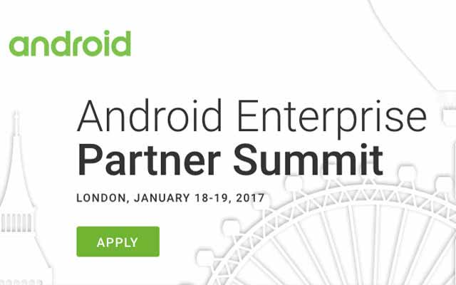 Android's Enterprise Partner Summit 2017