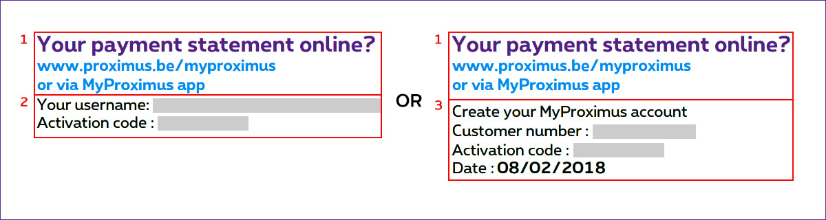 Your payment statement on MyProximus
