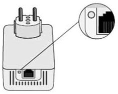 Press the button next to the cable entry port of one of the adapters