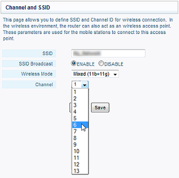 Select the channel 1, 6 or 11 in the configuration menu of your modem to improve the Wi-Fi signal