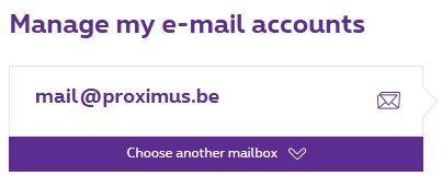 Choose a mailbox from the drop-down menu.