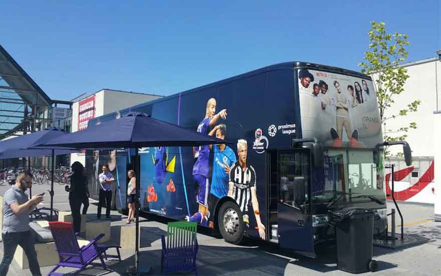 Win a unique night at our Proximus TV bus!