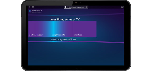 Watch programmes on the move, with the Proximus TV app