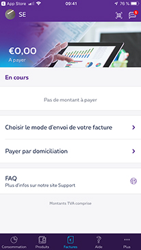 Easy and secure payment in MyProximus app for business