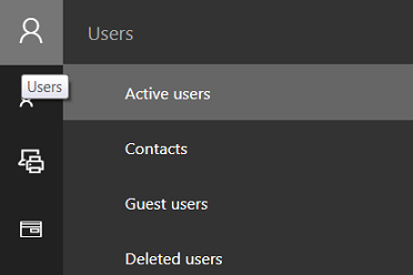 Click on Active users in the menu Users on the left.