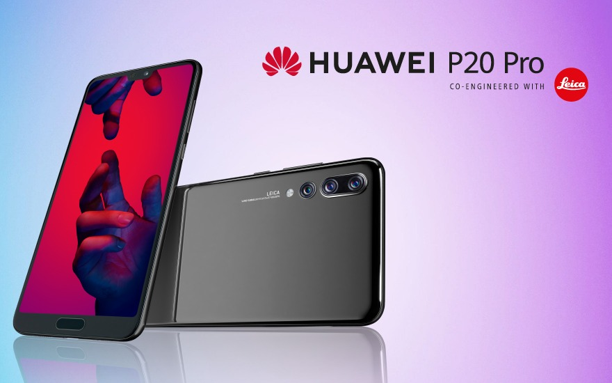 Huawei launches first smartphone with three cameras