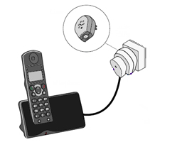 Connect the ADSL splitter first and then your telephone device.