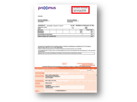 Example of a bill or payment statement with a bank transfer form