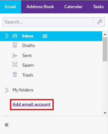 "Click ""Add email account""."