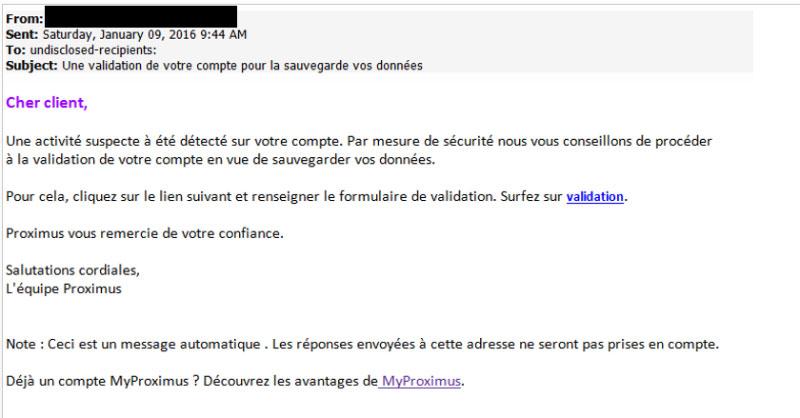 Avoid phishing fraud via e mail, text, phone | Proximus
