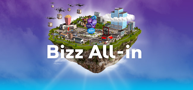 Bizz All-in : The pack for your business : Internet + TV + fixed line