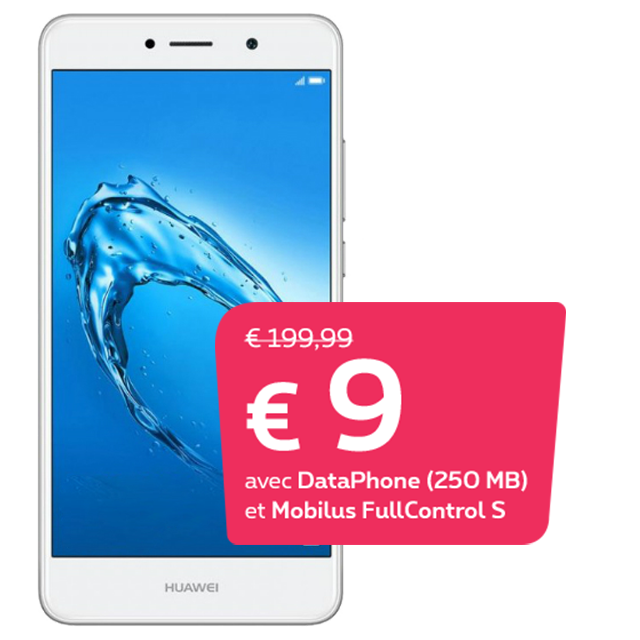 Huawei Y7 – grey – gold-  promo – Proximus