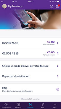 Easy and secure payment in MyProximus app