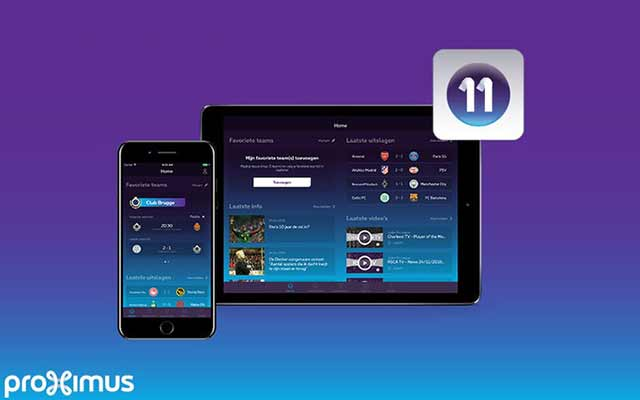 Don't miss anything of football with the new app of Proximus 11!