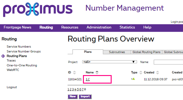 Routing Plans Overview