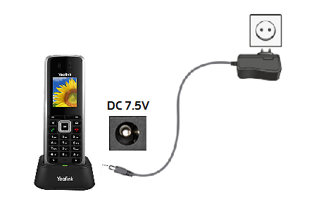 Connect the base station where your device fits in to the wall socket