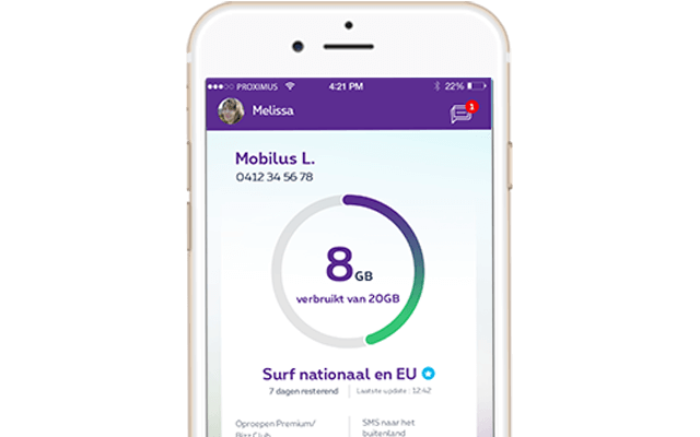 New feature in MyProximus app