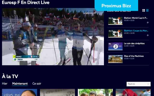 Discover the new web version of Proximus TV!