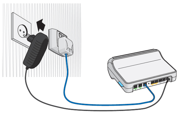 Power cable plugged into an electric socket