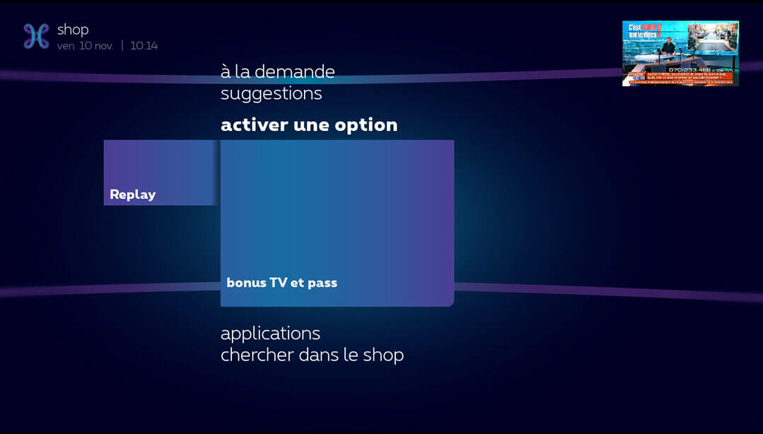 Commander une option TV_1