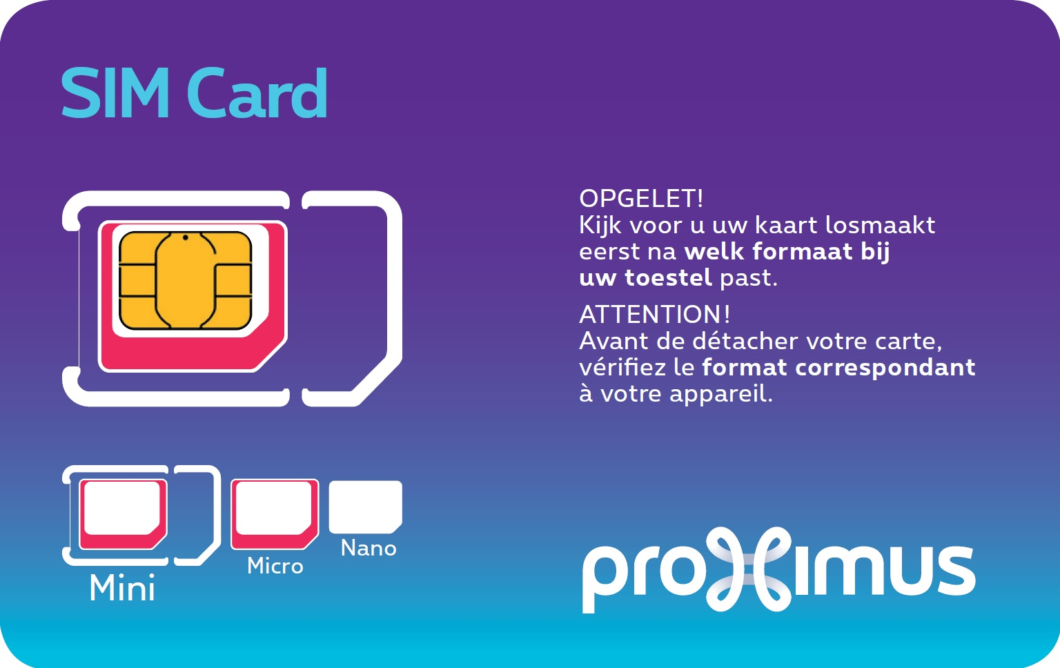 Example of a SIM card