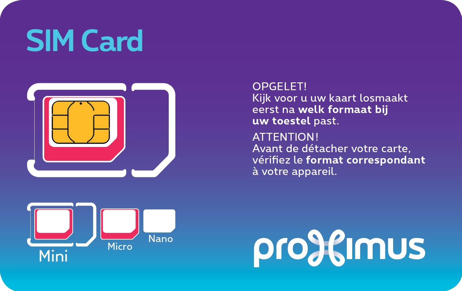 Choisir ou changer votre carte sim proximus - Couper une micro sim en nano sim ...