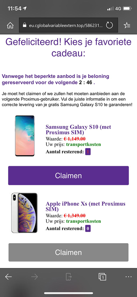 Avoid fraud via e-mail, pop-up, web, text, phone | Proximus
