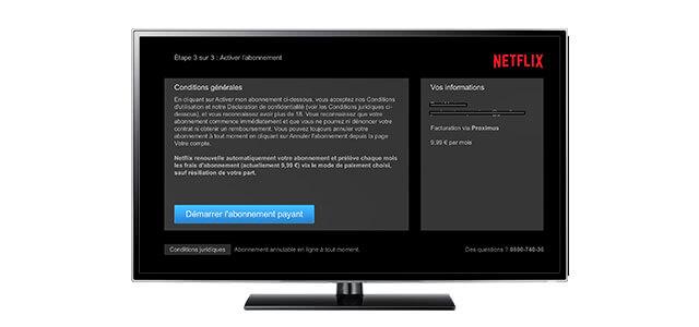 Approuvez les \u0027Conditions d\u0027utilisation\u0027 de Netflix comme bonus TV. Votre  abonnement Netflix sera désormais repris sur votre prochain avis de paiement