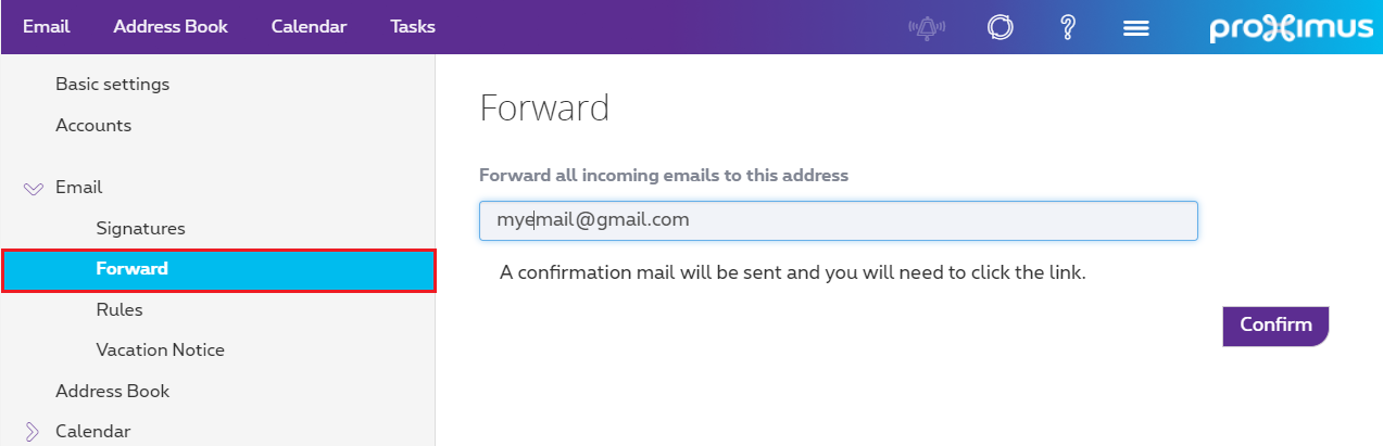 "Click ""Forward"" from the Email drop-down menu."