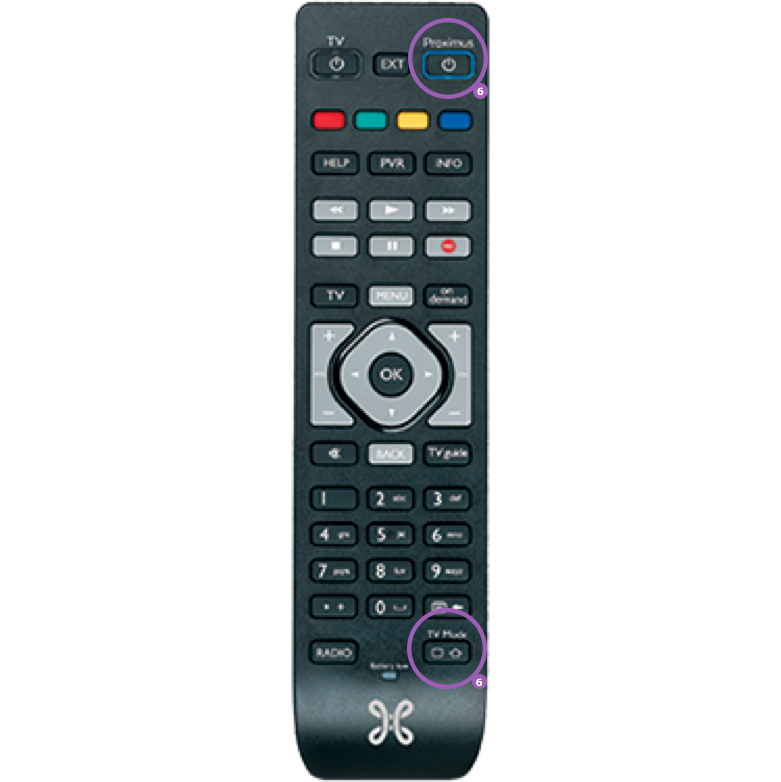 Use your decoder's remote control for your TV as well